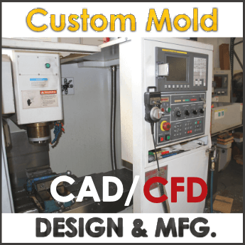 CAD / CFD Mold Fabrication Machine with Stylized Design