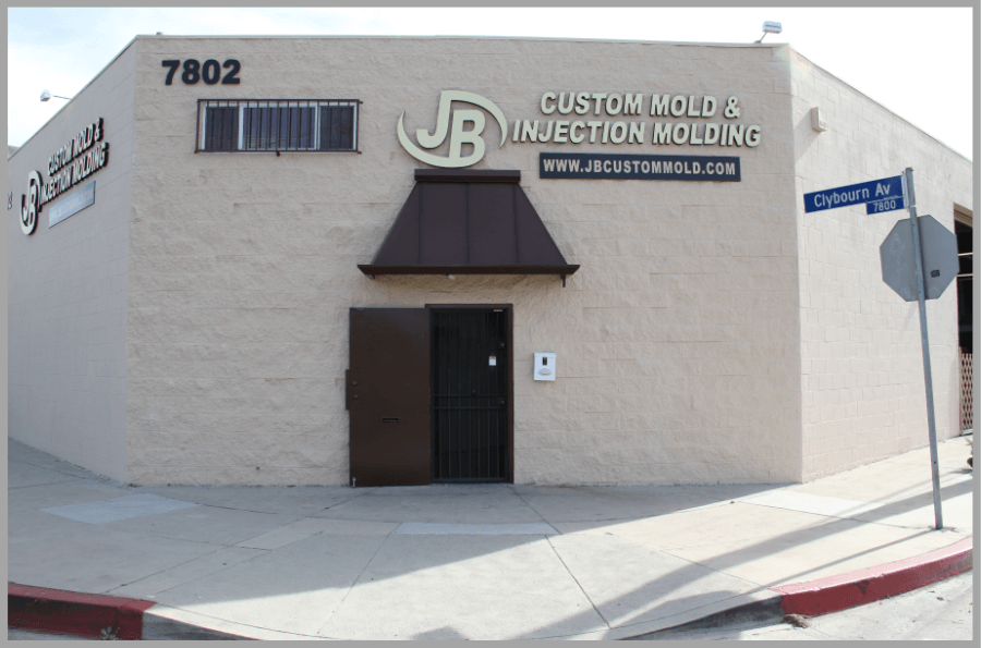 Front of JB Custom Mold Mfg. Building