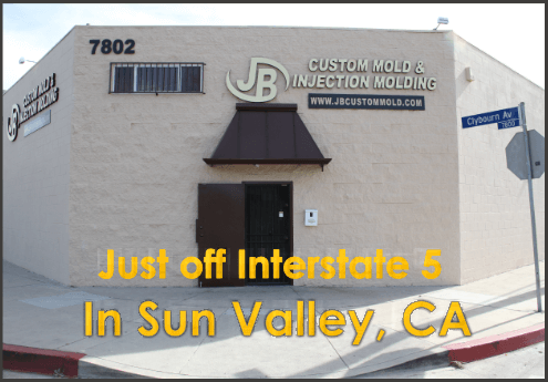 Front of building - just off Interstate 5 text on picture